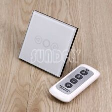 White 1 Gang 1 Way Dimmer Crystal Glass Large Remote Control Touch Switches