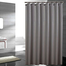 Shower Curtain HeavyWeight Fabric Water Repellent Mildew Resistant Gray Bathroom