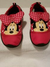 Disney Minnie Mouse Red Bow Pre-owned Swim Shoes size Large 9/10