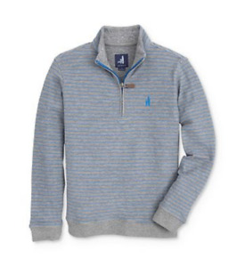 Johnnie O Emmett Gray Quarter Zip Pullover Boy's 49924 Size 5