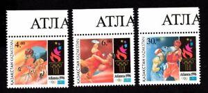 Olympic Kazakhstan 1996 set of stamps Mi#123-25 MNH CV=9€