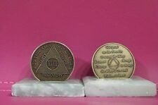 Recovery coins AA 28 Year Bronze Medallion tokens sobriety affirmation birthday