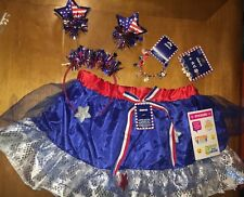 Claire's Fourth Of July Lot Skirt Sz M L 14 16 Headband Jewelry Justice Stickers