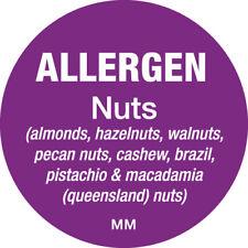 116144 - Daymark 25mm Circle Purple Allergen Nuts Label