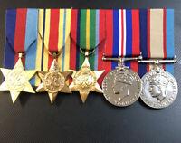Replica WW2 Medals, 39-45 Star Africa Star Pacific Star War Medal & ASM 39-45 #
