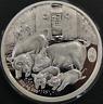2019 China Lunar Pig Panda 2oz Silver High Relief Medal Shenyang Mint COA.