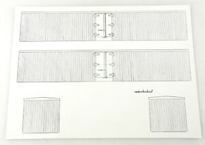 (12) O/S/On30 Gauge Scale BOX CAR REEFER PRINTS - MODEL TRAIN CONSTRUCTION ~ WS1