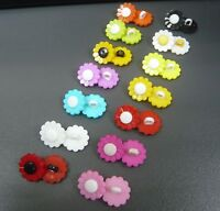 10/50/100x Daisy Flower Shank Plastic Novelty Buttons 15mm sewing knitting Craft