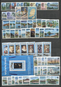 GRENADA 1966-1991 COLLECTION ON STOCK PAGES MNH better includes nos. 215-29 ship
