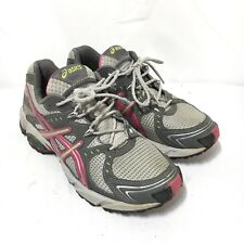 ASICS Gel-Trail Sensor 3 Women's 7 Gray Pink Lace Up Athletic Running Shoes