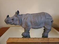"African Black Rhinoceros Rhino Resin/Plastic 11"" Animal Toy 1994"