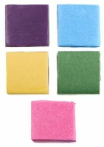 Darice Tissue Paper 8 Bold Colors, 1.4 x 1.4 inch Squares, Assorted Colors