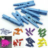 20-100pcs Mini Multicolor Wooden Clothe Photo Paper Peg Clothespin Craft Clip №)