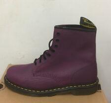 DR. MARTENS 1460 PURPLE SCRATCH    BOOTS SIZE UK 9