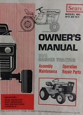 Sears Suburban 10/6 Lawn Garden Tractor Owner & Parts Manual 30p Mower 12/6 14/6