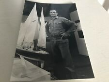 ERIC TABARLY   -  Photo de presse - Format 14x20cm