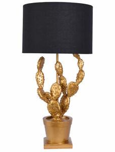 Table Desk Lamp Cactus Gold Black Bedside Lamp Plant Table Lamp 62cm Light