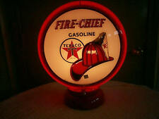 gas pump globe Texaco Fire Chief repro. & light stand NEW
