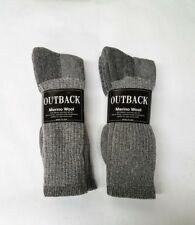 4 Pair Heather Grey Acrylic/MERINO Wool Blend Socks Men's Lg-XL FREE SHIPPING