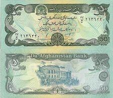Afghanistan P57b, 50 Afghans, Dar-al-Aman palace, Kabul, 1991 Goznak printer UNC
