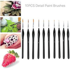 10Pc Extra Fine Tip Detail Paint Brushes for Miniatures Model Maker Painting Set