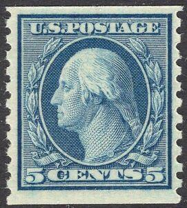 #496 VF MNH OG-5¢ Washington-COIL-Very Nice GEM QUALITY (REM #496-6)