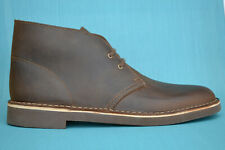 Clarks BNIB Mens Desert Boots BUSHACRE 2 Beeswax Leather UK 9.5 / 44