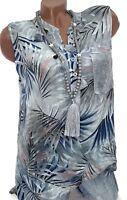 Sommer Top Kessi (Grau Touch) Damen Tunika Hemd Ibiza Bluse Gr.40-42-(44)