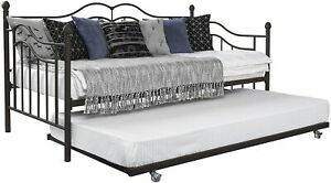 DHP Tokyo Metal Daybed and Trundle,Twin Over Twin Size, Brushed Bronze 4008959