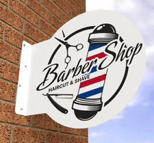 BARBER SHOP SIGN BARBERS POLE HAIR SALON SIGN PROJECTING WALL SIGN MENS HAIR