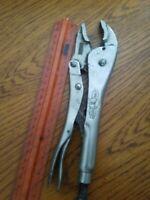 """Vise Grip by Petersen DeWitt Mfg. 10"""" Locking Pliers 10WR rt"""