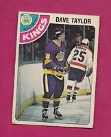 1978-79 OPC # 353 KINGS DAVE TAYLOR  ROOKIE GOOD CARD (INV# A5851)