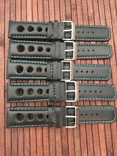 Set of 5 BRC NOS  leather straps for wristwatch - high quality - 24mm
