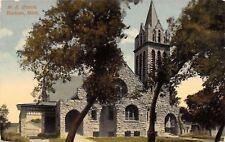 Hudson Michigan~Methodist Episcopal Church~Carport~Houses~1915 Postcard