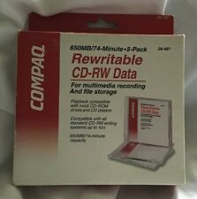 Compaq Rewritable Media CD 650MB/74-Minute Disc 5 Pack New File Storage Multimed
