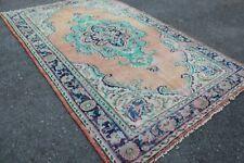 """Vintage Handmade Turkish Oushak Area Rug 10'5""""x6'7"""""""