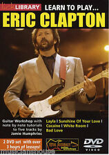 LICK LIBRARY Learn To Play ERIC CLAPTON Layla Bad Love Rock Pop Tutor GUITAR DVD