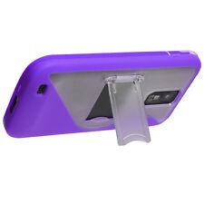 T-Mobile Samsung Galaxy S II T989 TPU S-Line Skin Case Cover Kickstand Purple