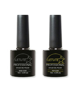 LETUTE™ Top and Base Coat - Professional UV/LED Soak Off Nail Gel Polish 10ml