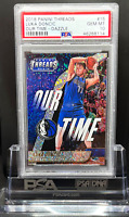 2018 Panini Threads Luka Doncic Rookie PSA 10 our time Dazzle