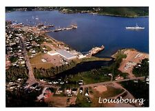 Louisbourg Nova Scotia Postcard Canada Fortress Harbour Unposted Aerial View