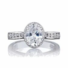 BRAND NEW WITH TAGS Tacori 26463OV 18K White Gold Oval Center Engagement Ring