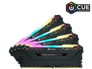 Corsair VENGEANCE RGB PRO 64GB (4x16GB) DDR4 DRAM 3600MHz C18 Memory Kit - Black