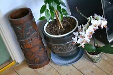 "Huge 18"" Antique Japanese Samurai Bamboo Brush Pot Circa 1850 - 1900"
