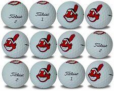 Cleveland Indians Titleist ProV1 Refinished MLB Golf Balls 12 pack