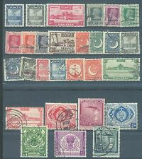 Pakistan 1947-51 range of 3 Mh and 25 used