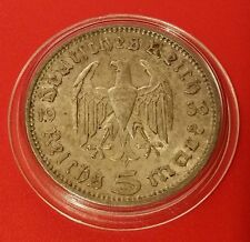 Germany Nazi 5 Reichsmark 1936 A .900 Silver Coin Prot Caps 469