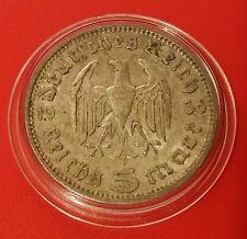 La Germania nazista 5 Marco 1936 a .900 SILVER MONETA PROT CAPS 469