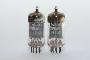 Pair of Philips Miniwatt ECC83 Audio Tube, Code mCP, D-Foil Getter, Long Plates