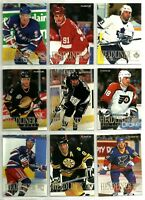 1994-95 FLEER HEADLINER COMPLETE 10 CARD INSERT SET LOT Gretzky Bure Lindros BV
